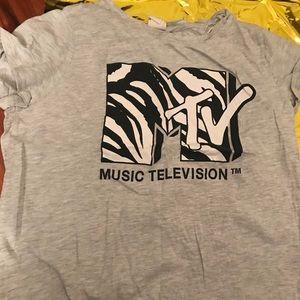 MTV crop tee